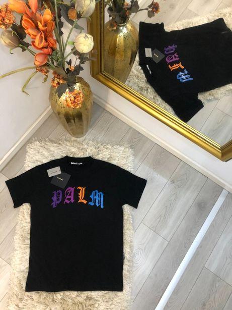 tricou Palm Angels colectia nnoua TOP alb/negru