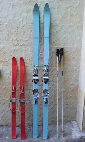 Ски, автомати, щеки, обувки и детски