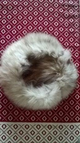 Шапка дамска естествен косъм - лисица и заек