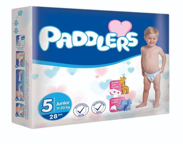 Scutece copii, Paddlers, 52 buc/set, Marime 5, 11-25kg, 24-36 luni