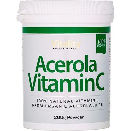 Acerola Vitamin C Organic Powder, 200g Powder