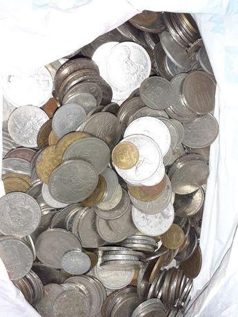 Colecție monede vechi românești și străine aprox. 10 kg