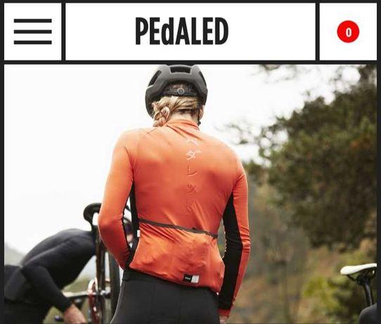 Bluza cu maneca lunga ciclism dama, PedalEd, XL, portocalie