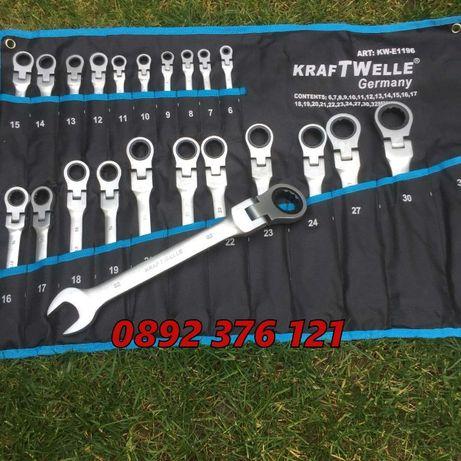 Немски Звездогаечни ключове KrafT в плат до 32мм - Чупещи