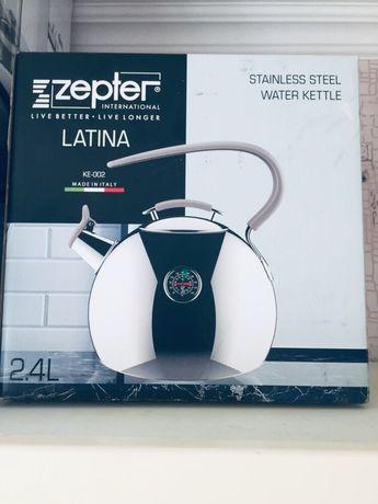 чайник Zepter оригинал. Объём 2,4 л, новый в упаковке в наличии 3 шт