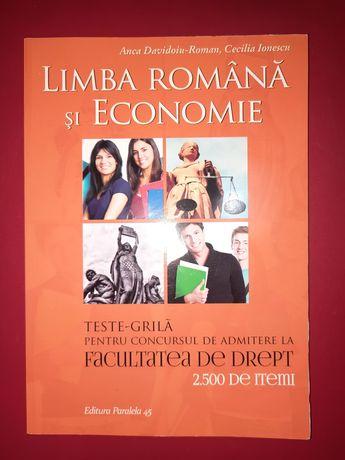Carte de exercitii pentru Drept -limba romana si economie