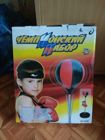 Чемпионский набор, бокс, перчатки, груша