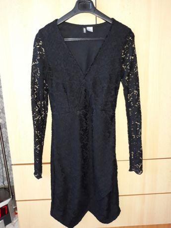 Rochie neagra tip dantela H&M marimea XS-S