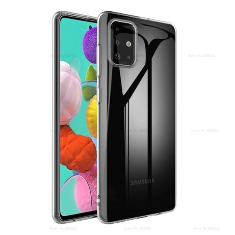 Husa Slim Silicon Clara / Neagra Samsung A21s A41 A30s A51 A71 A42