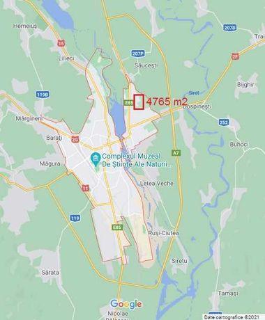 Teren intravilan pentru construcții, 4765 mp, Bacău - cart. Şerbanesti