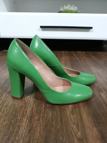 Pantofi verzi Bagatt 40, piele naturală fină interior exterior,  Italy
