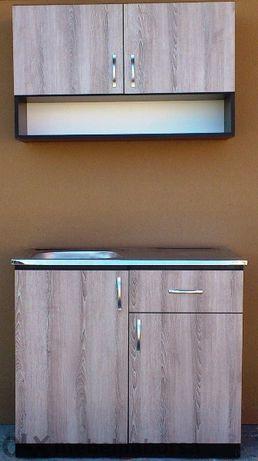 Шкаф мивка + горен ред 1 метър