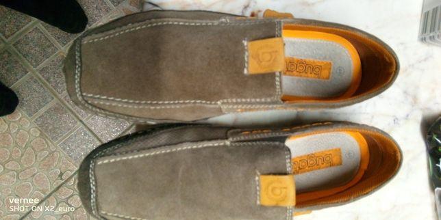 pantofi DUCATI nr 44 piele intoarsa hand made culoare capuccino
