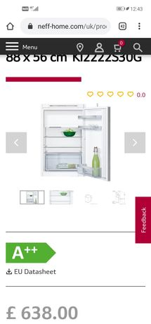 Neff хладилник с фризер за вграждане