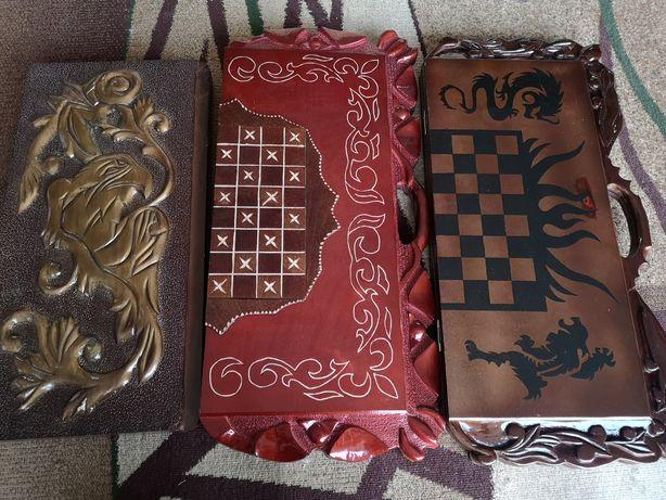 Нарды шашки шахматы 3в1