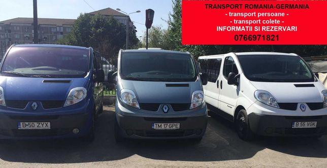 Transport persoane si colete Romania Austria Germania