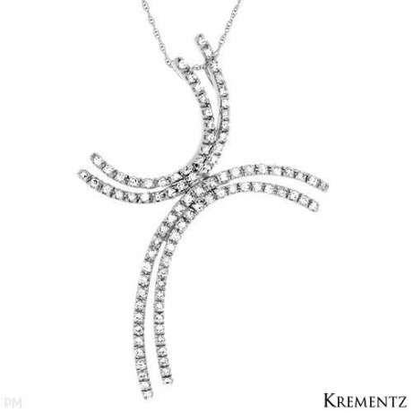 Colier aur 14k cu diamante 0.65ct