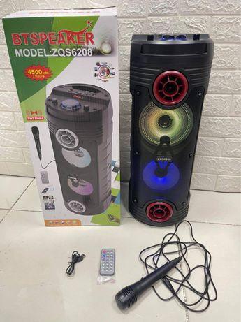 Колонка с микрофоном. Беспроводной караоке калонка. Буфер. Bt speaker