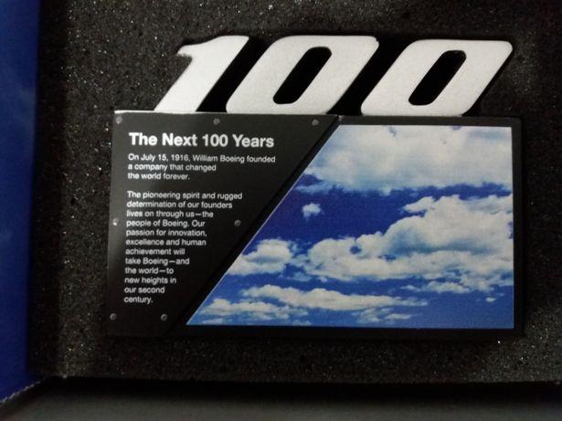 Placheta aniversara Boeing de colectie