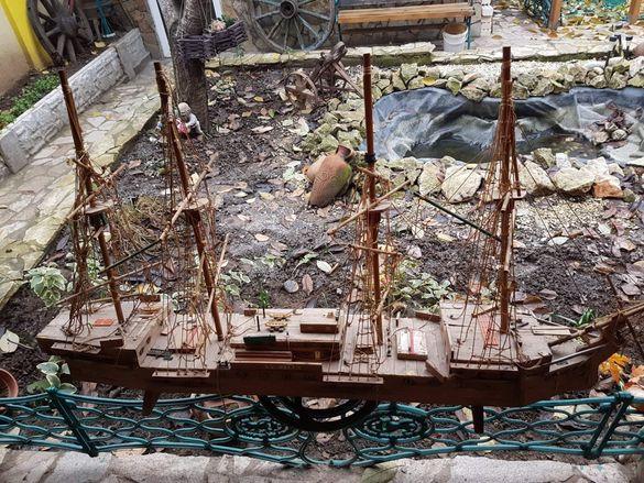 Макет на кораб - ръчно изработен