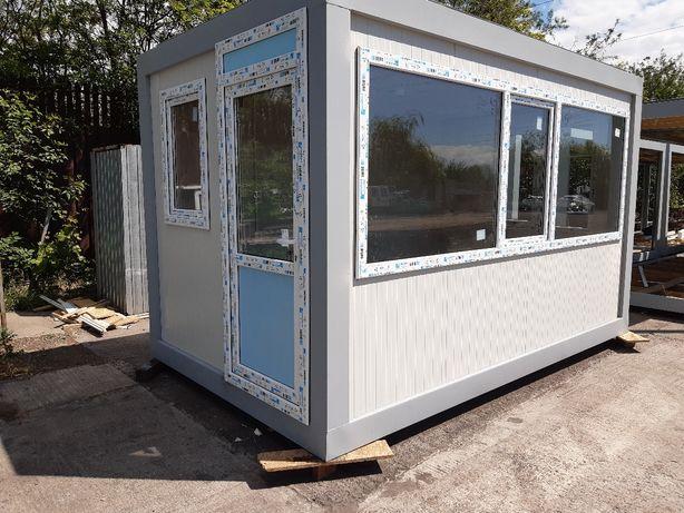 Container containere birou vitrina chiosc fastfood cafenea cabina paza