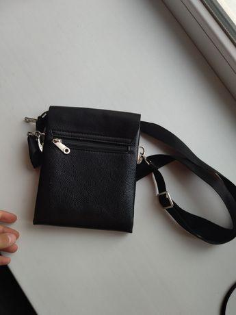 POLO кожаная сумка ( барсетка )