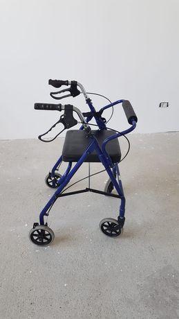 Rollator pliabil cu 4 roti, frână, scaun