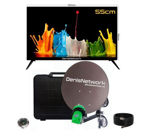 KIT/SET COMPLET 12/24v TV CAMION Tir 55cm + Antena + Receptor 2luni