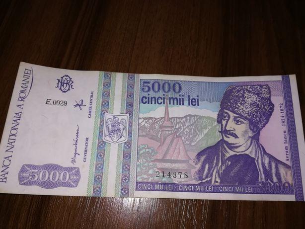 Bancota de 5000 de lei cu Avram Iancu - 1993