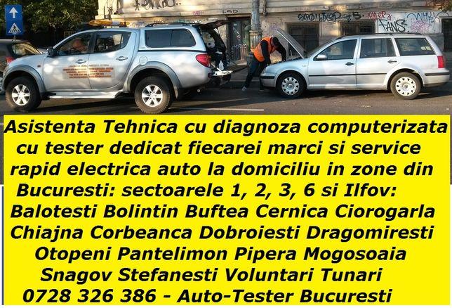 Diagnoza testare Citroen / Peugeot service electrica auto la domiciliu