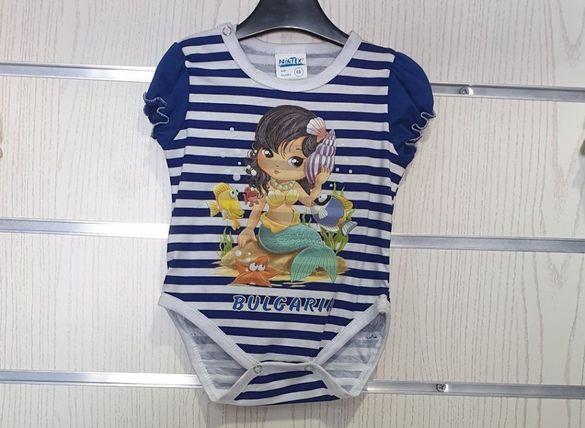 Ново бебешко моряшко боди с различни щампи от 3 месеца до 12 месеца