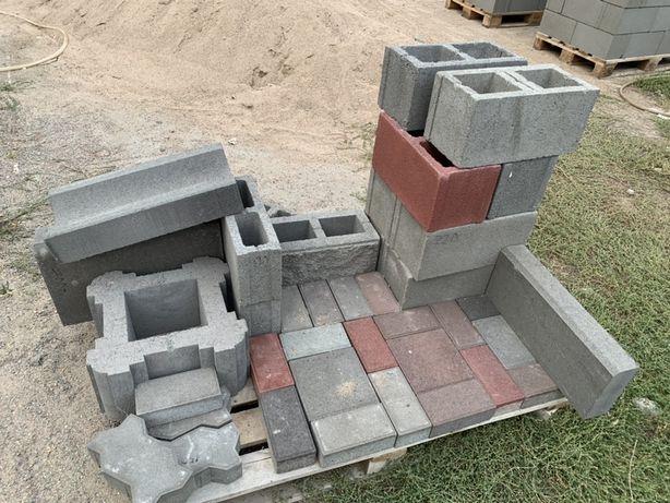 Сплитерные блоки, рваные блоки, бордюры, тратурные плитки