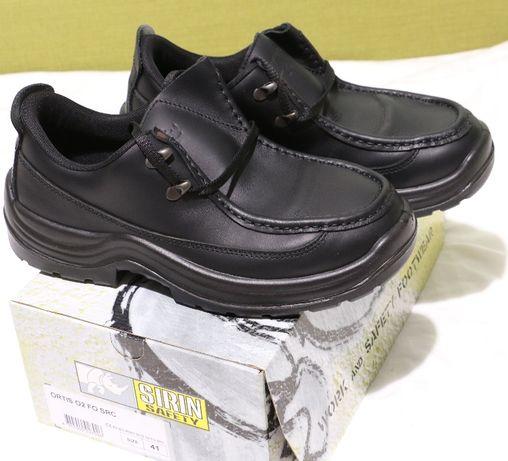 pantofi,ghete piele 41,41,5 ,noi