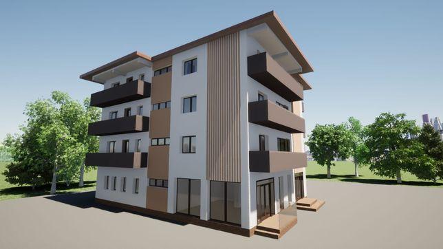 Apartamente și spatii comerciale în bloc nou zona centrala Târgu Neamț