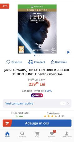 Star wars Jedi Fallen Order Delixe Edition Xbox One