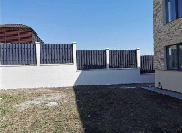 Garduri stil jaluzele, fier forjat, sipca metalica, BCA, plasa, placi