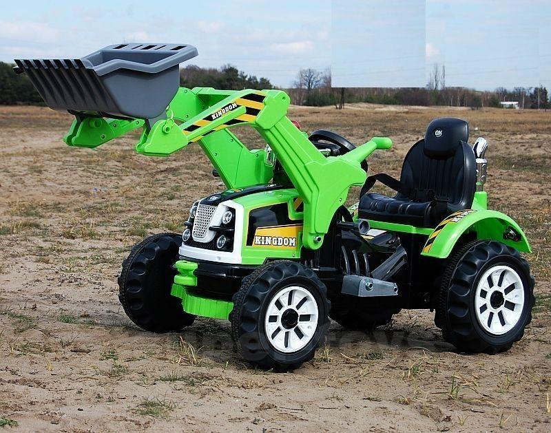 Excavator electric pentru copii Kinderauto BJS328 70W 12V #Green