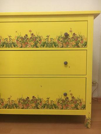 """Comoda lemn masiv """"Sub soarele verii"""" (Ikea)"""