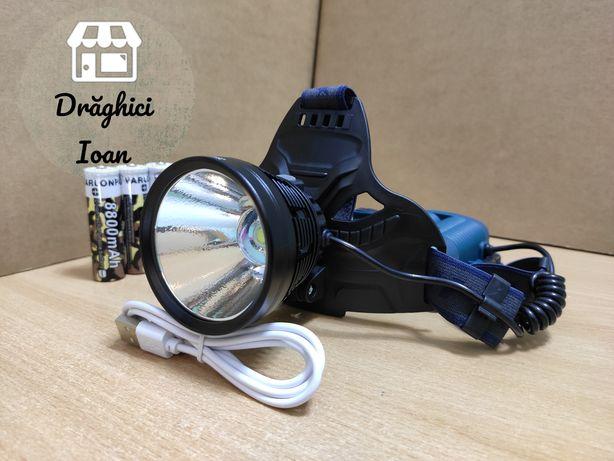 CREE P70 PROIECTOR (reflector TEXTURAT) - lanterna de cap, model 2020