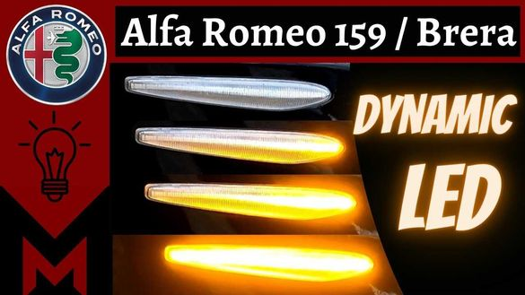 НОВ МОДЕЛ супер ярки LED Динамични странични мигачи за Alfa Romeo 159