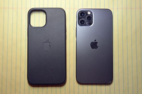Iphone 12 MINI PRO MAX Husa Imitatie Piele Interior Catifea Mag Safe