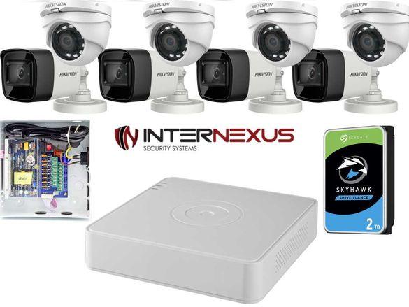 2 Mpx 8CH HD-TVI MIX Система за Видеонаблюдение Hikvision