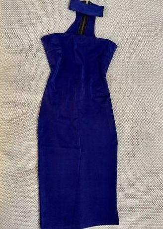 Rochie Prive Boutique Albastru Royal, Marime S