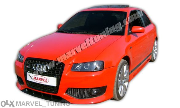 ПРОМОЦИЯ: предна тунинг броня тип S3 за Audi A3 - Ауди А3 №010505