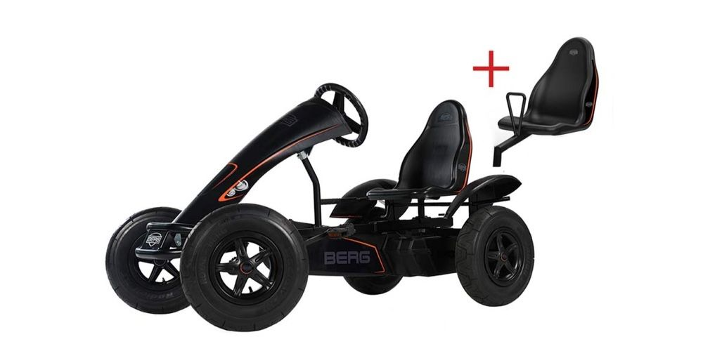 Kart, cart cu pedale pentru copii Berg Black Edition. Domnesti - imagine 1