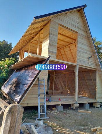 Realizam casute de locuit sau cabane din lemn acceptăm variante auto