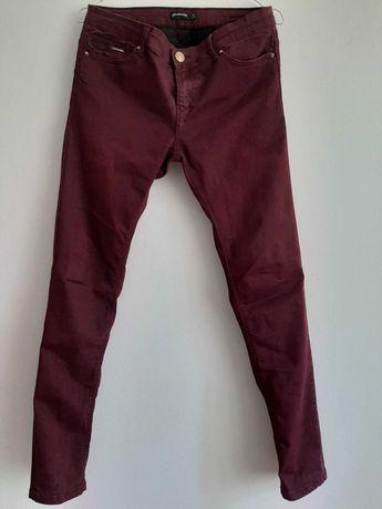 Jeans/pantaloni grena/burgund/mov prună Stradivarius