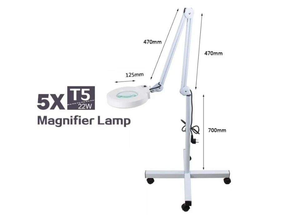 Lampa Cosmetica cu Lupa si Neon Lumina Rece picior PROFESIONALA Garant