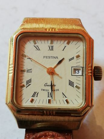 Festina Gold Plated Ceas Dama Quartz
