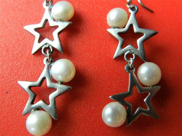 Cercei argint 925 cu perle de cultura, dimensiune mare